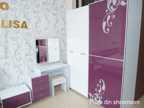 Mobilier Dormitor Alb-Mov