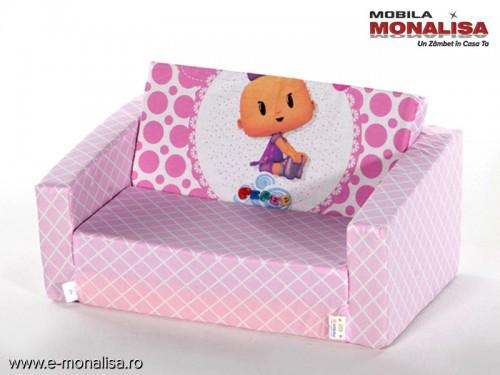 Canapea Copii Extensibila Roz