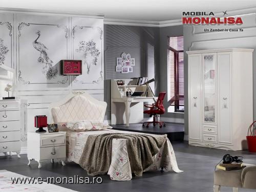 Dormitor Clasic Copii Alb Ivory Belissa