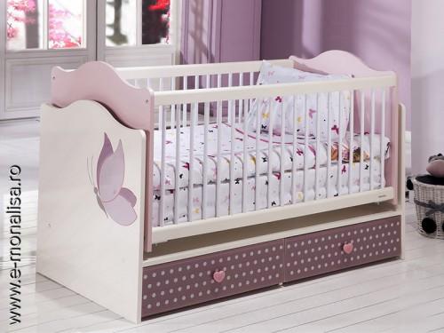 Patut bebe alb roz Joyful
