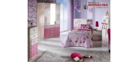Vanzare Mobila tineret dormitor fete roz Portivo cu birou Bucuresti