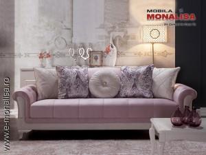 Canapea Eleganta Roz Sementa 3 locuri