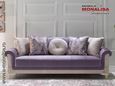 Canapea Eleganta Sementa Violet 3 locuri