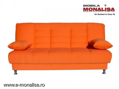 Canapea 3 Locuri cu Lada Vegas - Orange