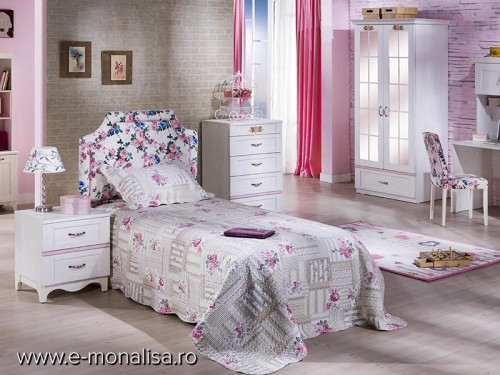 Dormitor copii alb clasic Venturo