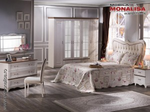 Dormitor matrimonial alb clasic modern Venturo