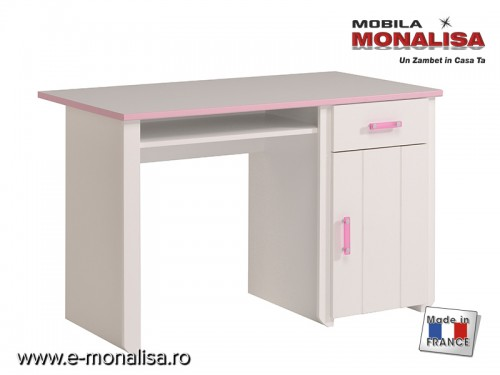 Birou fete alb roz Biotiful