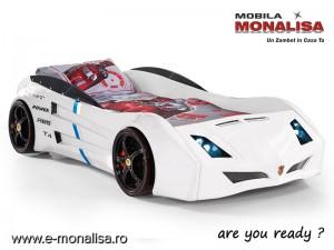 Pat Masina Carrera Sport Alb