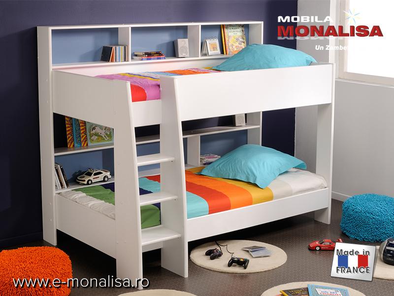 pat etajat copii leo pret paturi etajate pentru copii. Black Bedroom Furniture Sets. Home Design Ideas