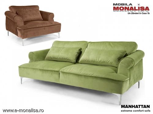 Canapea confortabila cu spuma memory Manhattan