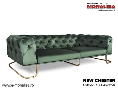 Canapea New Chester pe stil chesterfield modern