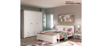 Vanzare Dormitor Clasic alb Bastide - MDF si Lemn stejar natur Bucuresti