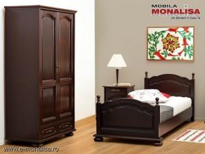Dormitor Berry clasic cu pat 90x200 pt tineret si copii