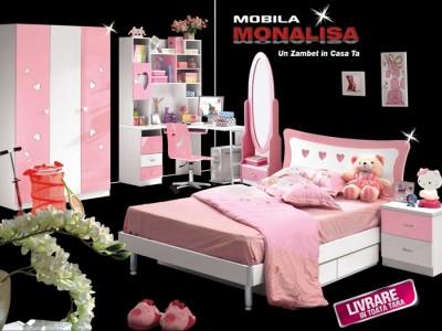 Set Dormitor Roz Princess Heart