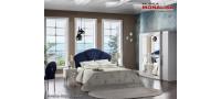 Vanzare Dormitor modern lux Baron alb 5 usi oglinda pat 160x200 Bucuresti