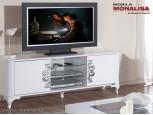 Comoda TV de lux alb lucios Brillance