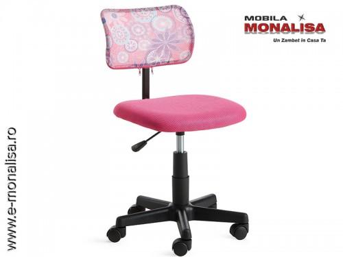 Scaun Roz de birou fetite / copii Flores