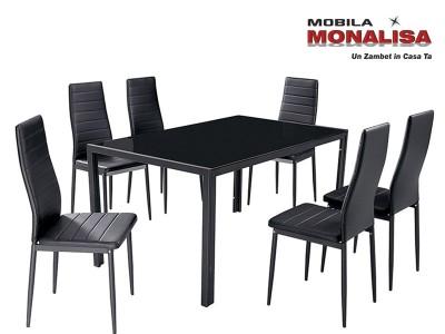 Masa Sticla cu scaune Matrix