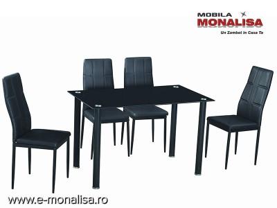 Masa 4 persoane si 4 scaune Melinda