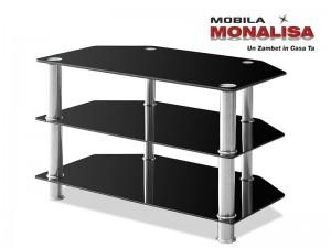 Stand TV Sticla Neagra Modern