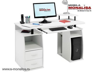 Birou Alb MDF pentru calculator Practic