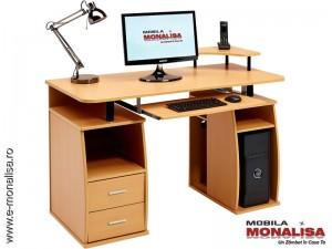Birou pentru calculator MDF Fag Practic