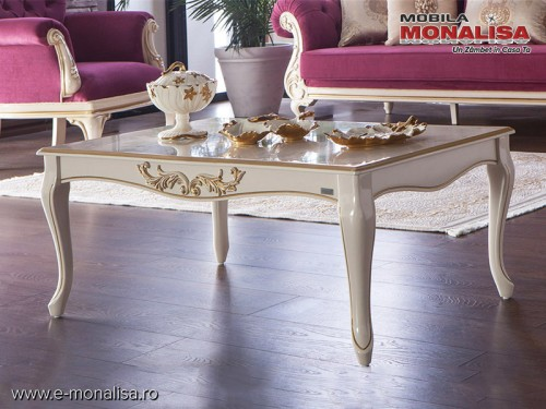 Masa de cafea stil Clasic de Lux Astoria Alb Crem