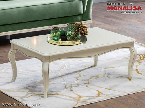 Masa cafea lemn si mdf pentru living elegant Avangard Lux