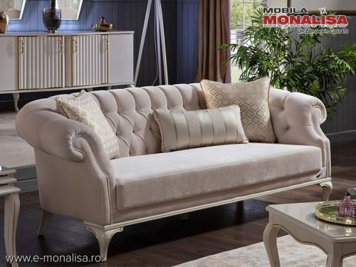 Canapea de Lux pe stil clasic Avangard crem la Pret Special
