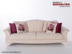Canapea clasica extensibila confortabila Elegance de lux Crem