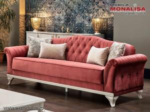 Canapea eleganta extensibila Helen Grena Corai