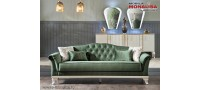Vanzare Canapea verde de 3 locuri extensibila Helen smarald Lux Bucuresti