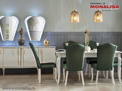 Mobila Living Eleganta de Lux Helen Alb Ivory modern ⭐