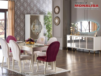Living modern alb de Lux elegant Lorenz