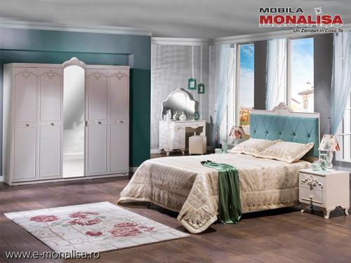 Set Mobila Dormitor complet Mabel alb