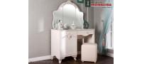 Vanzare Masa de toaleta cu oglinda Mabel alb fildes ⚜️ Bucuresti
