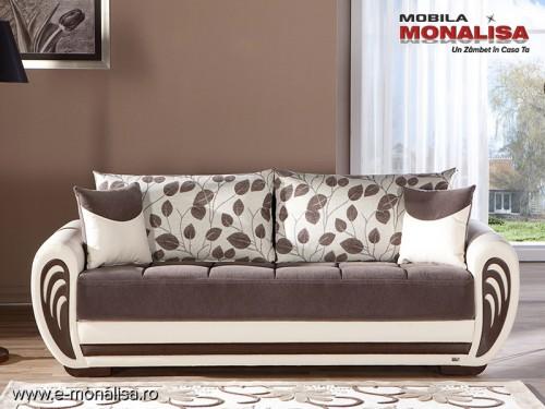 Canapea extensibila 3 locuri Marina espresso