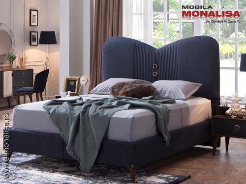 Pat cu somiera rabatabila pt dormitor de lux ⭐ Novita
