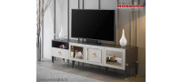 Vanzare Comoda TV alb gri antracit moderna de Lux Prada Bucuresti