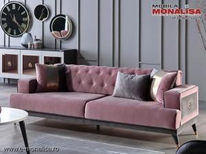 Canapea originala de Lux Prada chester roz prafuit 3 locuri