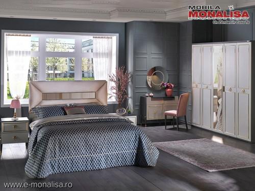 Set Mobila Dormitor de lux moderna Prada original gri antracit