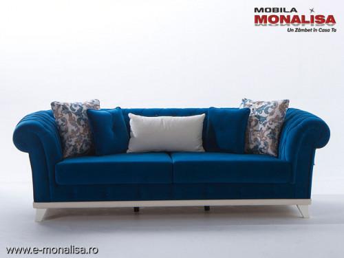 Canapea clasica de Lux Albastru Royal chesterfield Versay