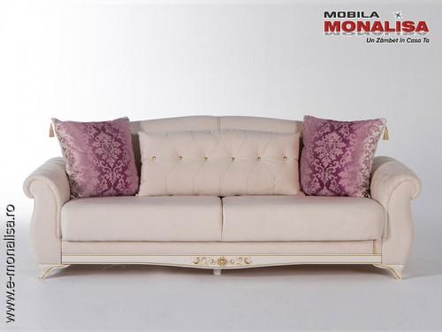 Canapea Eleganta de lux Extensibila 3 Locuri Vienna crem