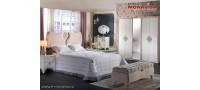 Vanzare Mobila de lux dormitor alb Ivory matrimonial Vienna Bucuresti