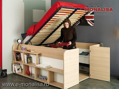 Pat dormitor Multifunctional cu Depozitare Space UP