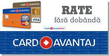 Mobila in Rate Card Avantaj