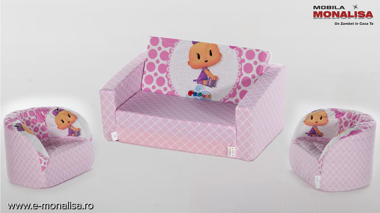 Canapele si fotolii extensibile din burete pt. copii