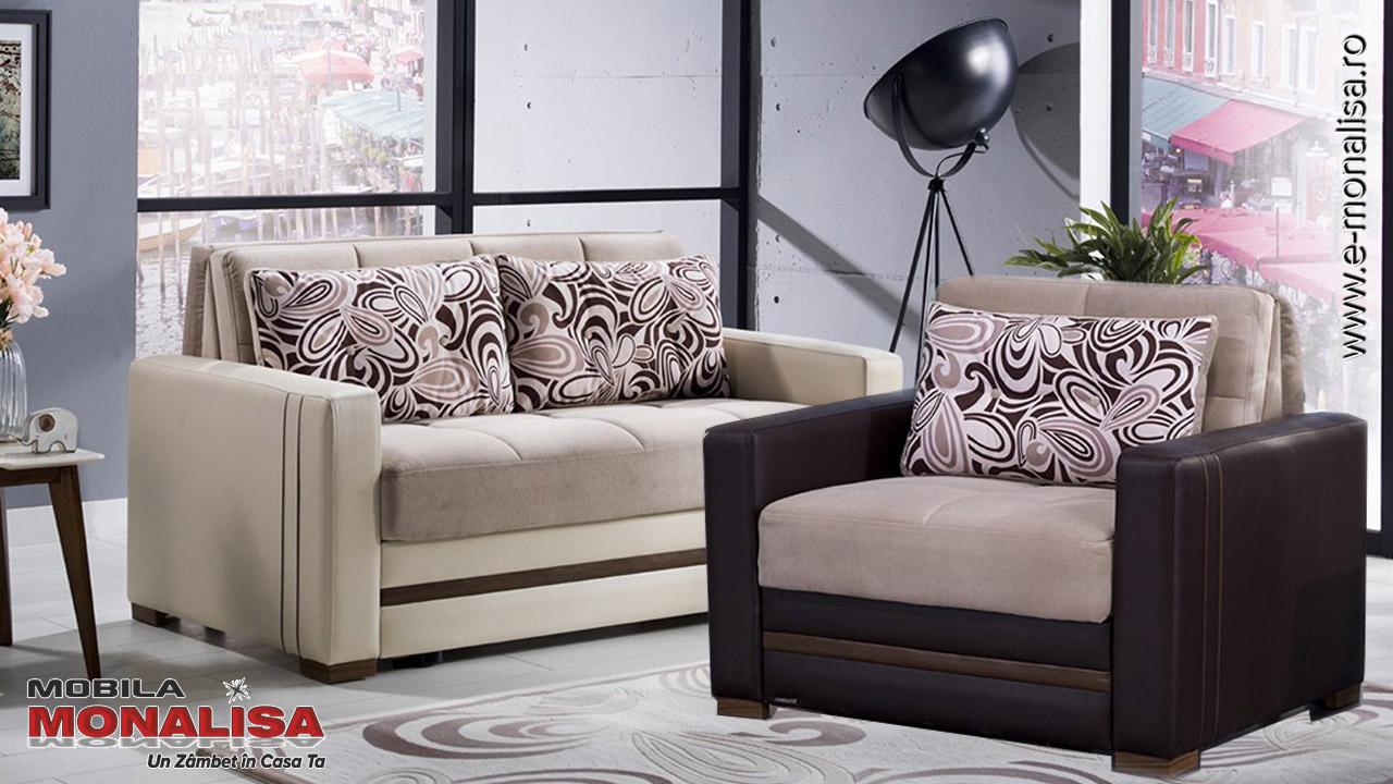 Canapele si Fotolii tip pat extensibile cu lada