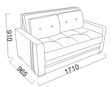 Dimensiuni canapea extensibila 2 locuri