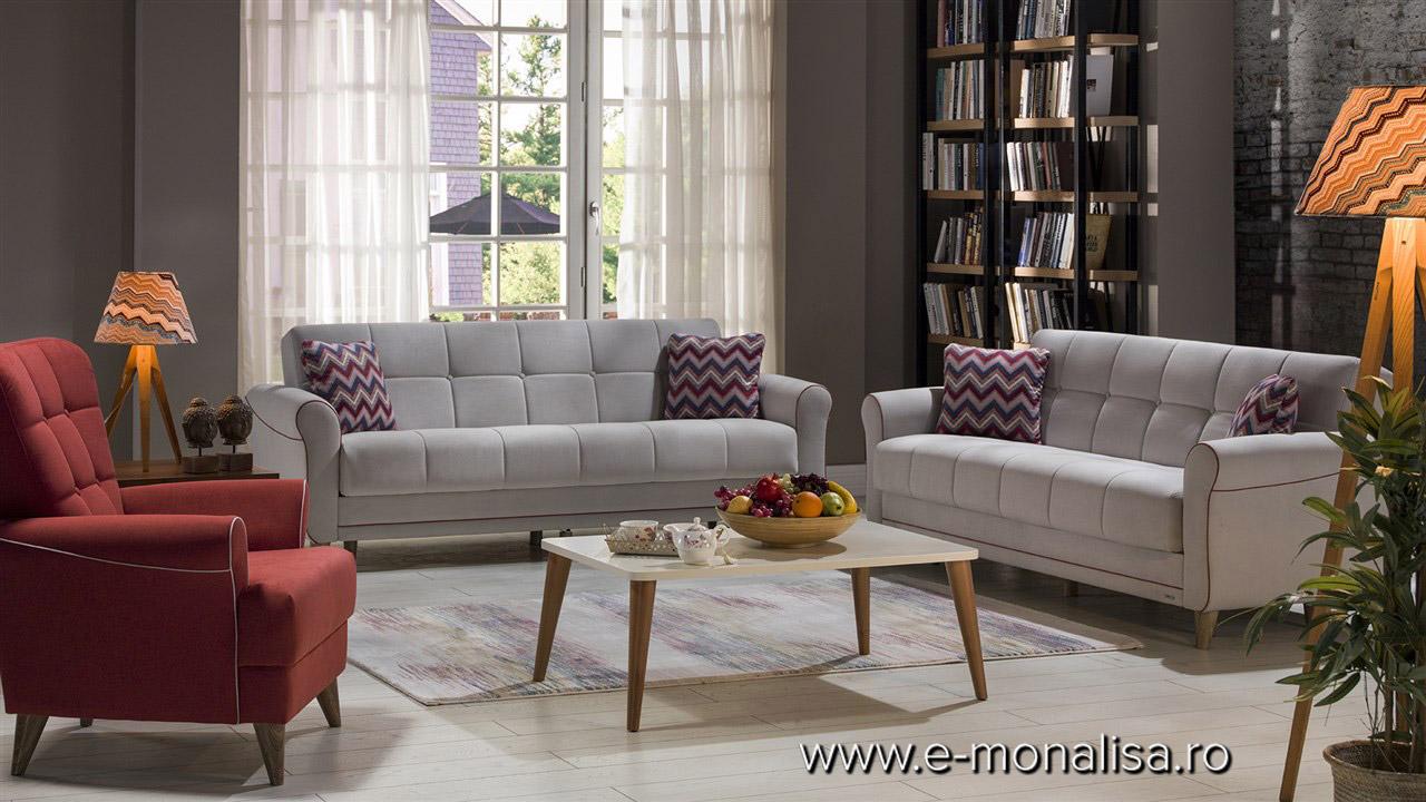 Canapele extensibile cu spatiu depozitare si fotolii